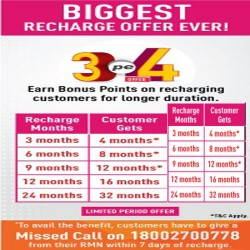 Dish tv hd connection special pack one month super family & 3.