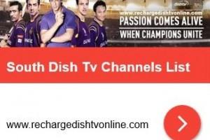 South DishTv Channels List